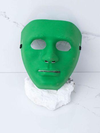 Zielona maska karnawałowa