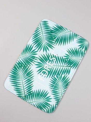 Zielona mata podłogowa z nadrukiem