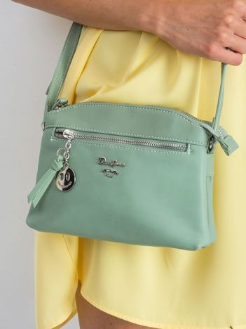 Zielona miękka torebka listonoszka