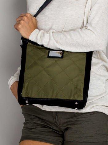 Zielona pikowana torebka listonoszka