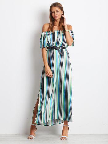 Zielona sukienka Stripes