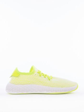 Zielone buty sportowe z ażurową białą siateczką