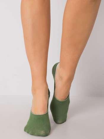 Zielone damskie skarpetki stopki