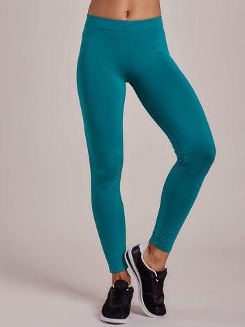 Zielone legginsy damskie na gumce