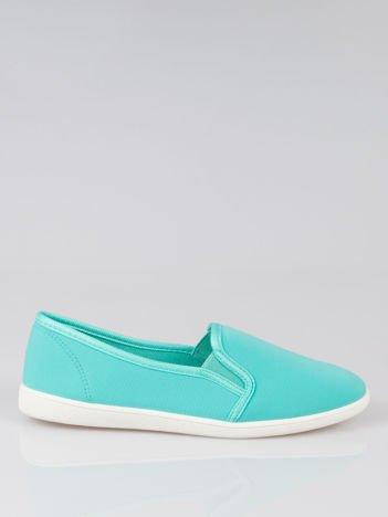 Zielone lekkie buty sliponki