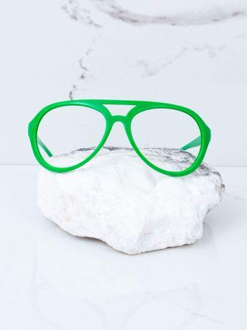 Zielone okulary bez szkieł