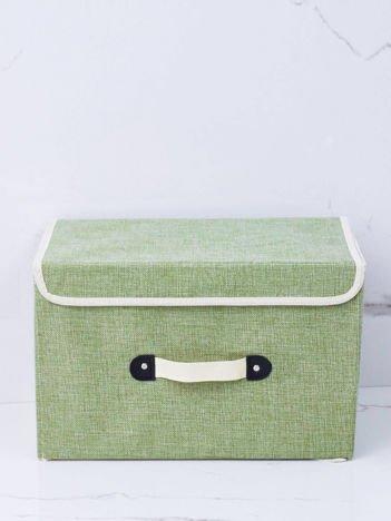 Zielone pudełko na ubrania