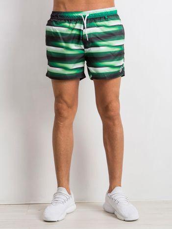 Zielone spodenki męskie Running
