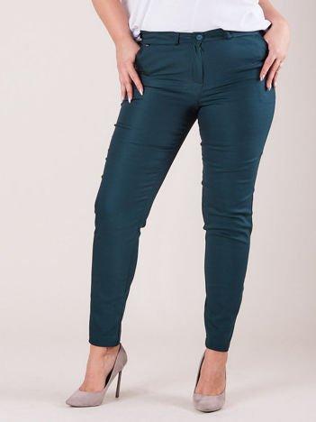 Zielone spodnie slim fit PLUS SIZE