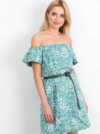 Zielono-biała sukienka Pandora