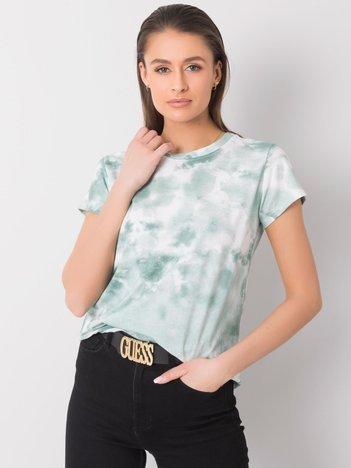 Zielono-biały t-shirt Annette
