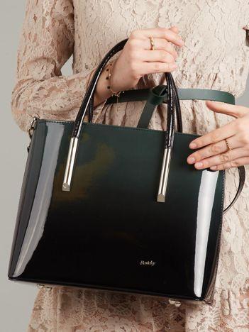 Zielono-czarna torba ombre
