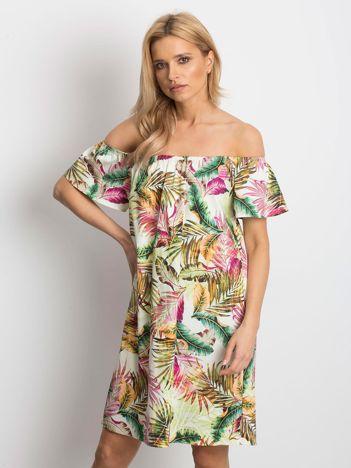 62e496661e Zielono-różowa sukienka Sunshine