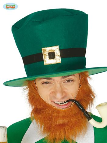 Zielony kapelusz skrzata na imprezę St. Patrick's