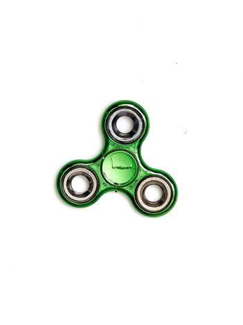 Zielony klasyczny metalowy hand fidget spinner