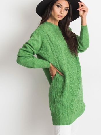 Zielony sweter Moment