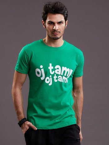 Zielony t-shirt męski OJ TAM OJ TAM