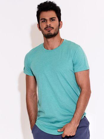 Zielony t-shirt męski basic