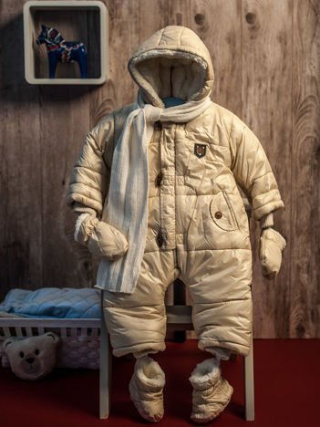 Zimowy kombinezon dla dziecka beżowy