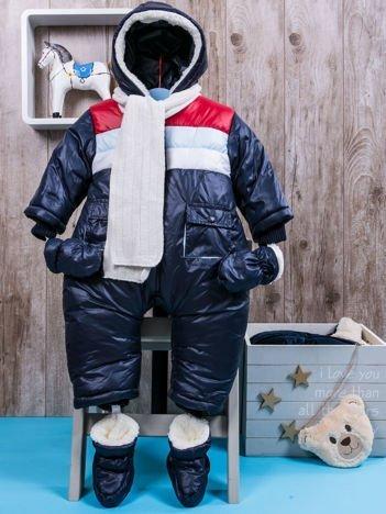 Zimowy kombinezon dziecięcy granatowy