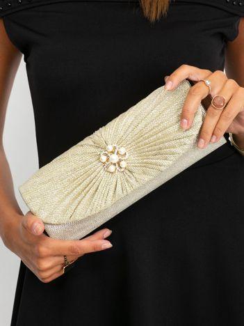 Złota kopertówka z perełkami