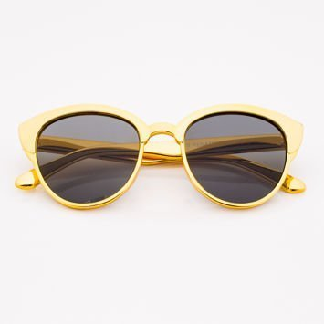 Złote Dziecięce Okulary przeciwsłoneczne