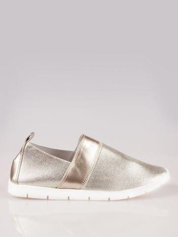 Złote buty slippers Dakota na traktorowej podeszwie