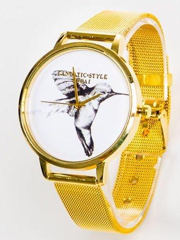 Złoty zegarek damski KOLIBER z bransoletą typu MESH