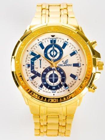 Złoty zegarek męski na bransolecie