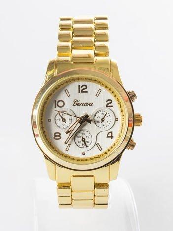 Złoty zegarek na bransolecie