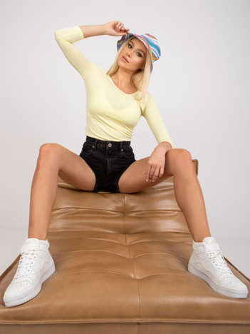 Żółta bawełniana bluzka basic