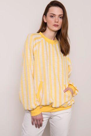Żółta bluza w paski BSL