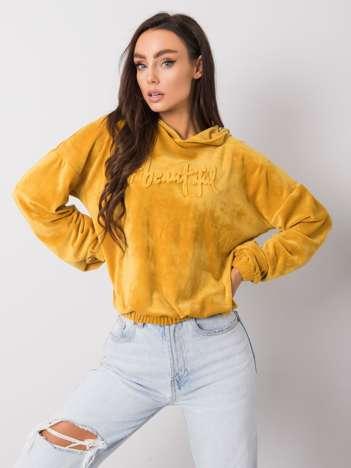 Żółta bluza welurowa Adina