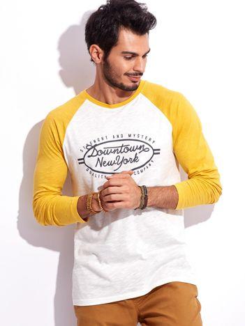 Żółta bluzka dla mężczyzny z nadrukiem