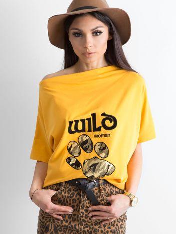 Żółta bluzka z motywem zwierzęcym