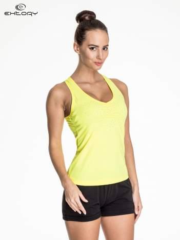 Żółta damska bokserka sportowa