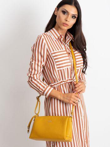 Żółta damska torebka skórzana