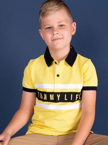 Żółta koszulka polo dla chłopca TOMMY LIFE