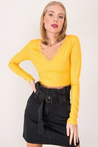 Żółta krótka bluzka BSL