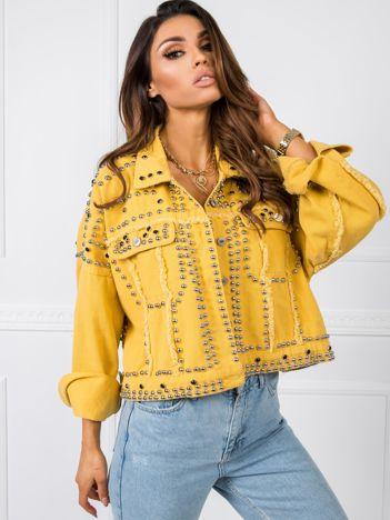 Żółta kurtka jeansowa Rocky