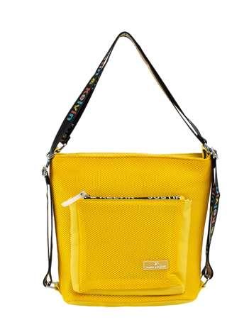 Żółta miejska torba na ramię