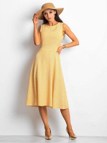 Żółta sukienka Respected