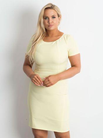 Żółta sukienka plus size Symmetry