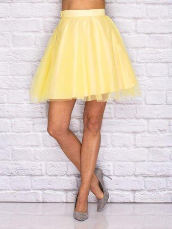 Żółta tiulowa spódnica