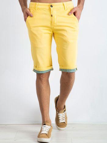 Żółte spodenki męskie Austin