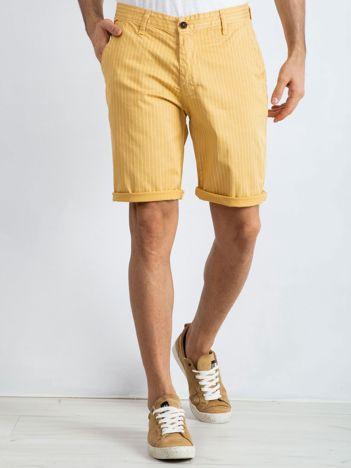 Żółte spodenki męskie Hamilton