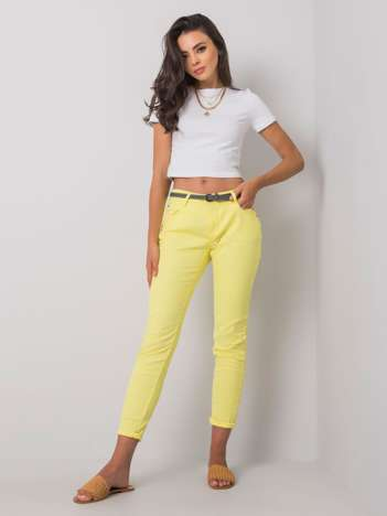 Żółte spodnie Rabella