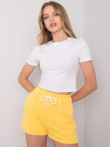 Żółte szorty casualowe Reya RUE PARIS