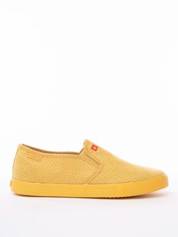 Żółte wsuwane ażurowe slip-on BIG STAR