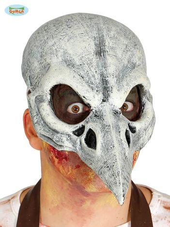 Żółto-czarna lateksowa maska na imprezę Czaszka Ptaka